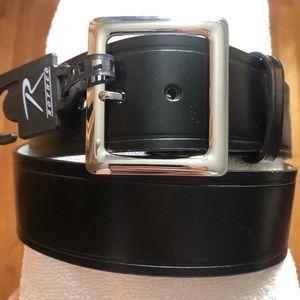 NEW. Black Leather Belt